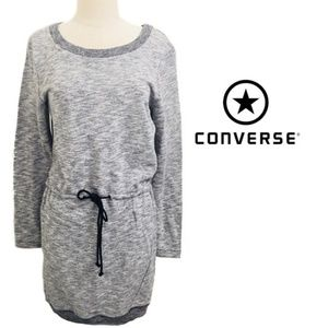 Converse One Star Gray Sweatshirt Dress NWT